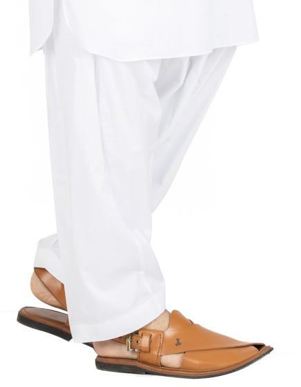 White Cotton - Men Shalwar (JJS-109)