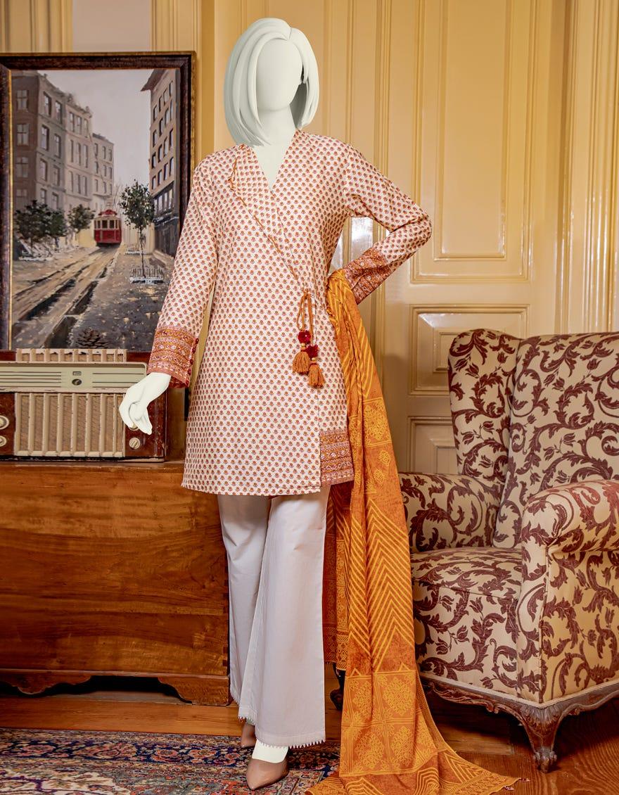 Junaid Jamshed JLAWN-S-JDS-21-1059 Golden Eid Collection