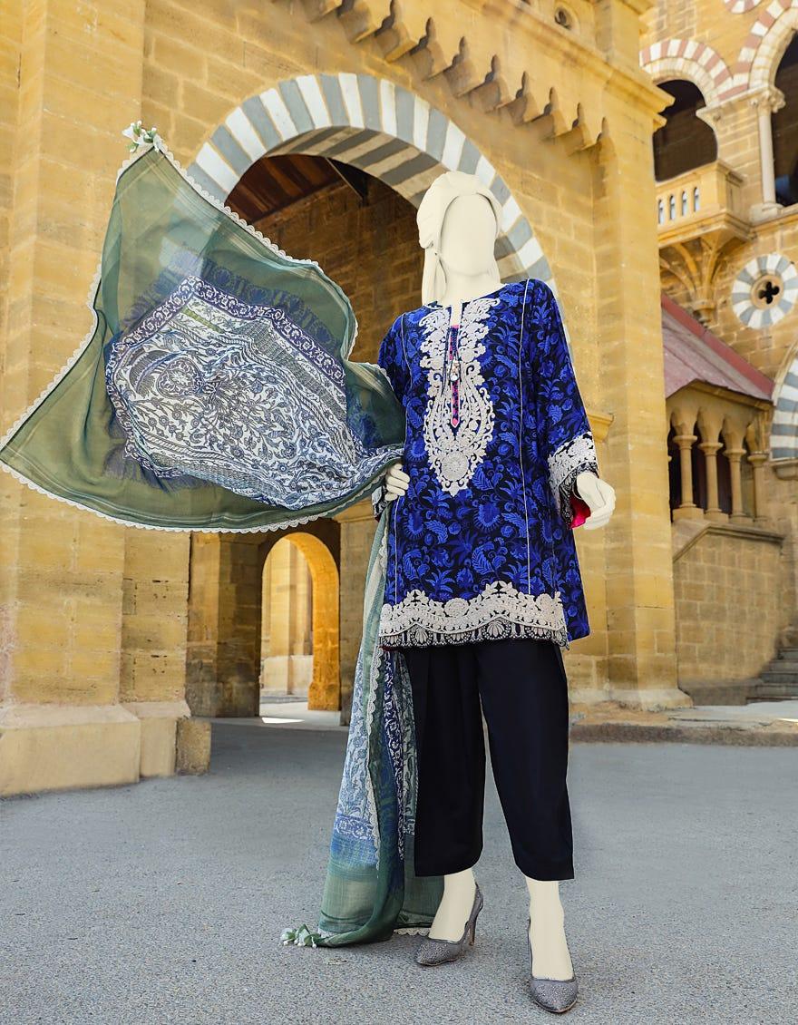 Junaid Jamshed JLAWN-S-21-136 Sardinia Eid Collection
