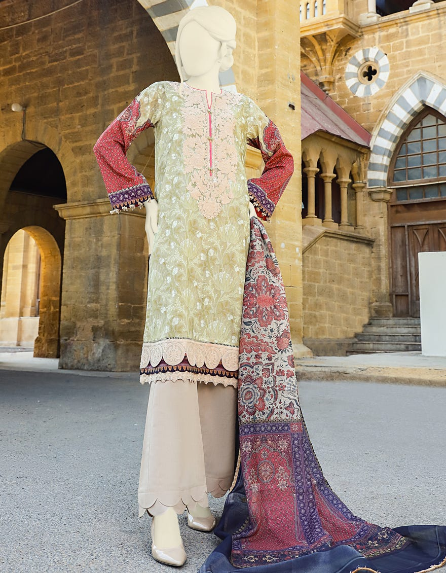 Junaid Jamshed JLAWN-S-21-137 Vianni Eid Collection