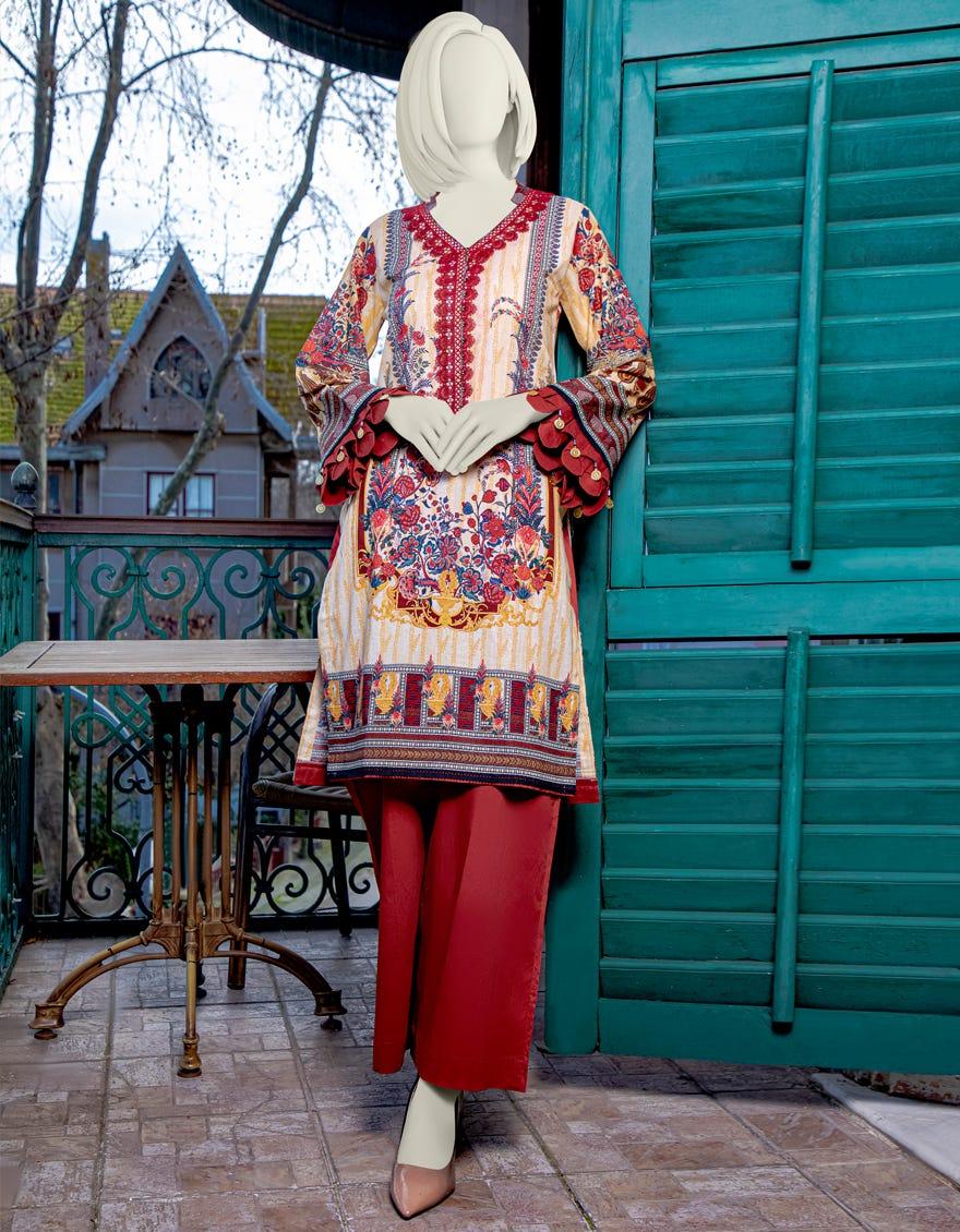 Junaid Jamshed JLAWN-S-JST-21-1613 Cedar Eid Collection