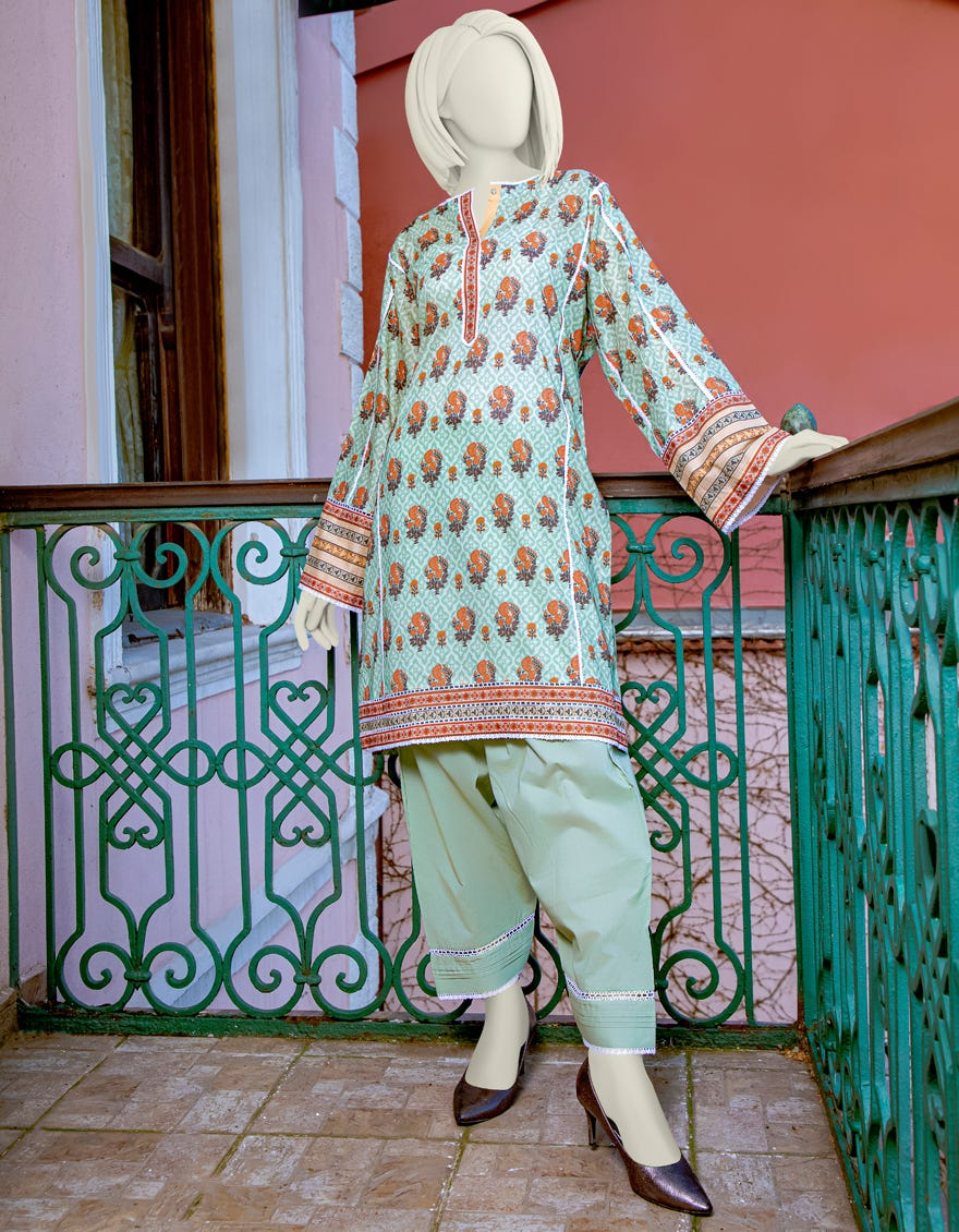 Junaid Jamshed JLAWN-S-JST-21-1615 Yesil Eid Collection