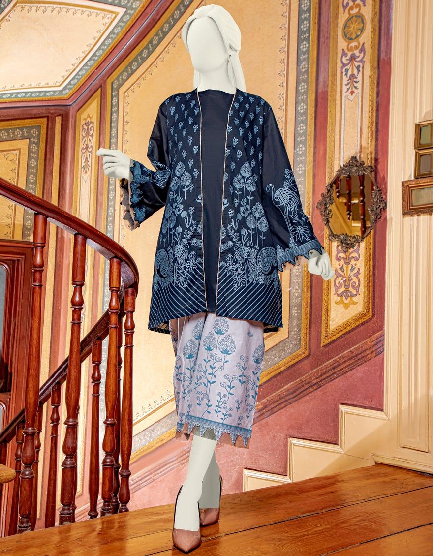 Junaid Jamshed JLAWN-S-JST-21-1619 Haematite Eid Collection