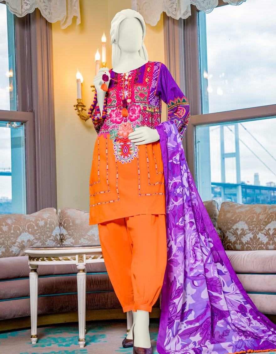 Junaid Jamshed JLAWN-S-21-182 Gulistan Eid Collection
