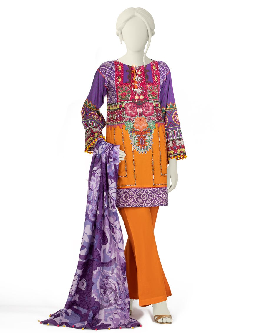 Junaid Jamshed JLAWN-S-21-182 S Gulistan Eid Collection