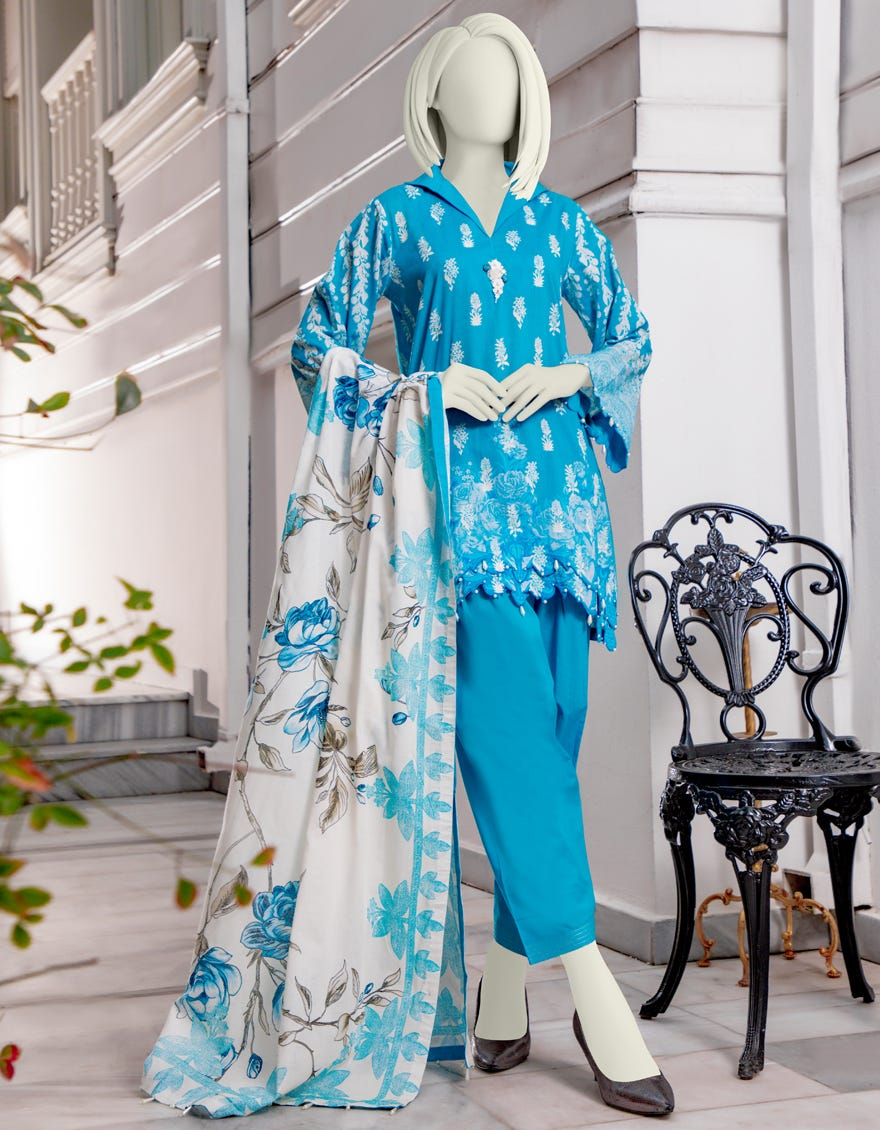 Junaid Jamshed JLAWN-S-21-187 Maneli Eid Collection