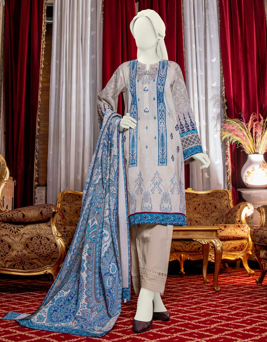 Junaid Jamshed JLAWN-S-21-217 Vettoriali Eid Collection
