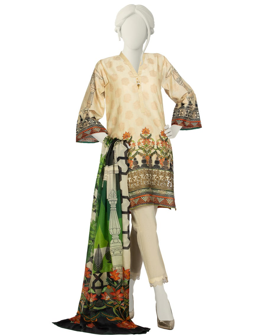 Junaid Jamshed JLAWN-S-21-246 S Dasteh Eid Collection