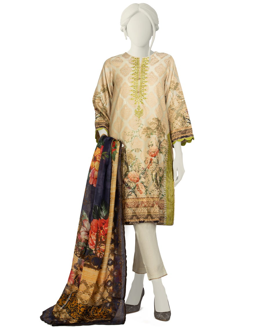 Junaid Jamshed JLAWN-S-21-249 S Tiam Eid Collection