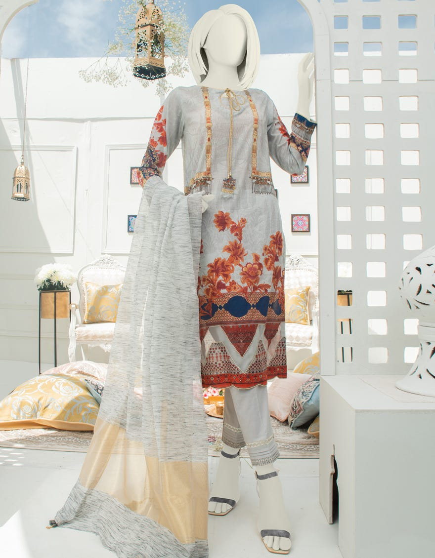 Junaid Jamshed JLAWN-S-21-250 Charagha Eid Collection