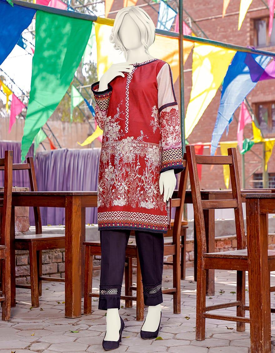 Junaid Jamshed JJLK-S-JPWK-21-560 FB Maroon Vibe Eid Collection