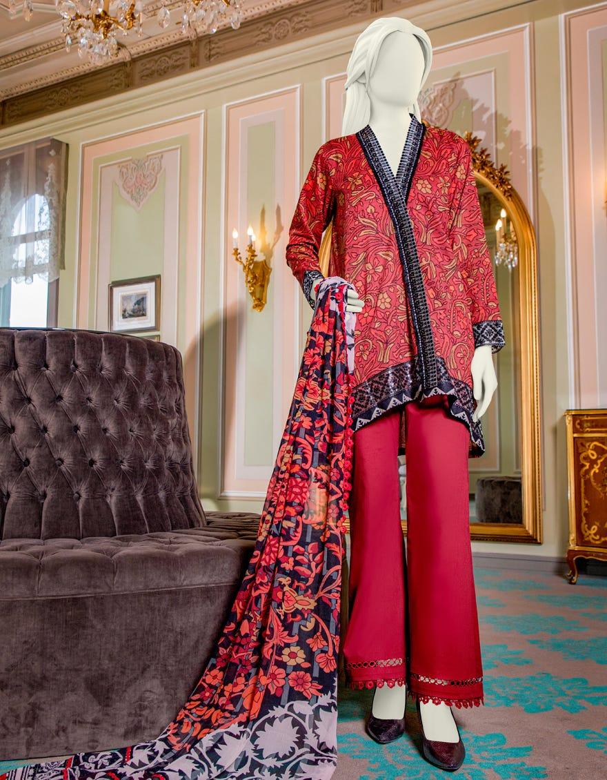 Junaid Jamshed JLAWN-S-21-706 Bilgah Eid Collection