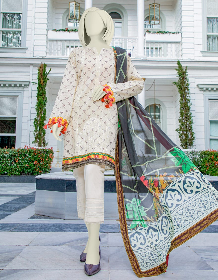 Junaid Jamshed JLAWN-S-21-707 Block Grain Eid Collection