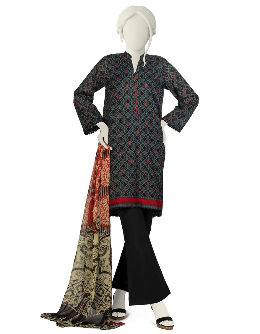 Junaid Jamshed JLAWN-S-21-708 S Emerie Eid Collection