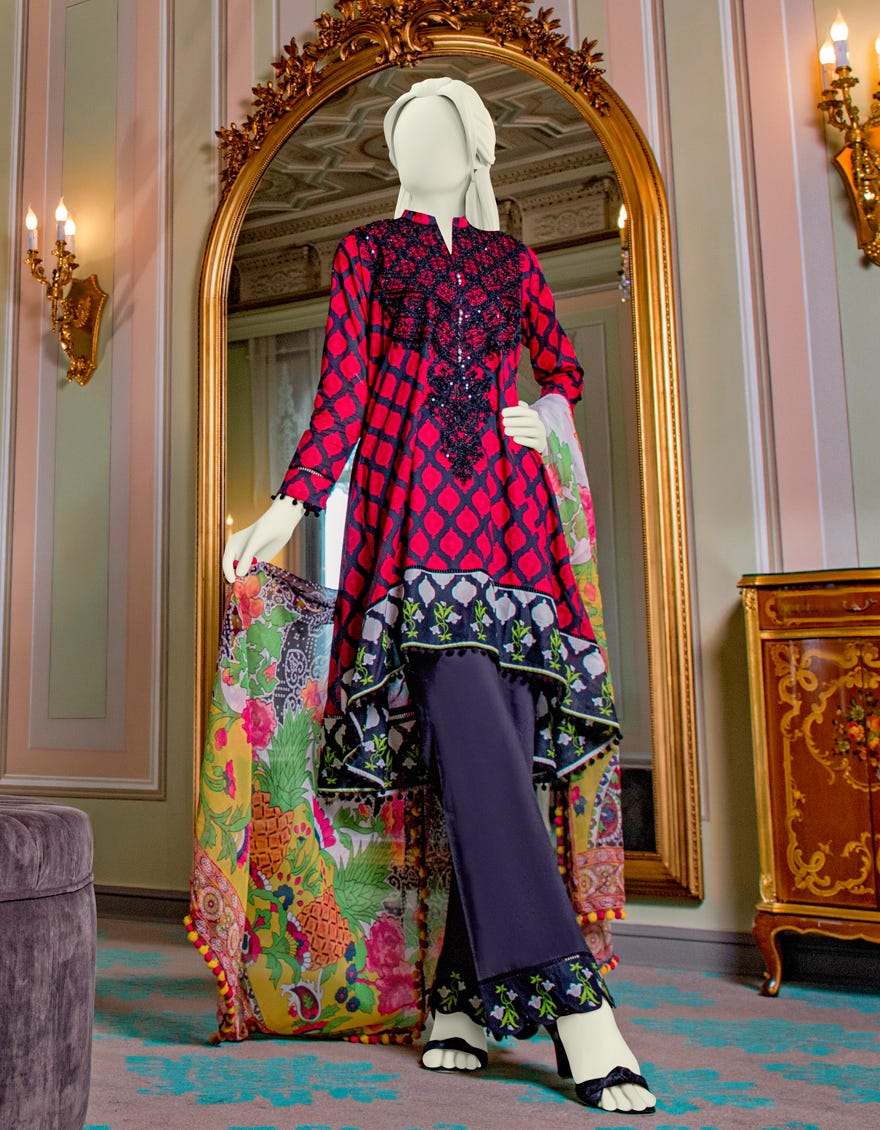 Junaid Jamshed JLAWN-S-21-710 Mirabelle Eid Collection
