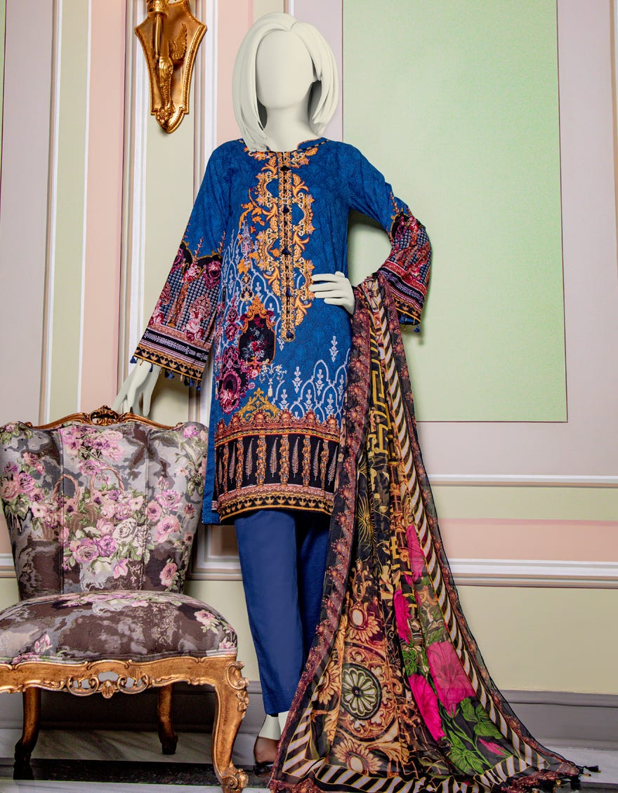 Junaid Jamshed JLAWN-S-21-729 Legacy Eid Collection