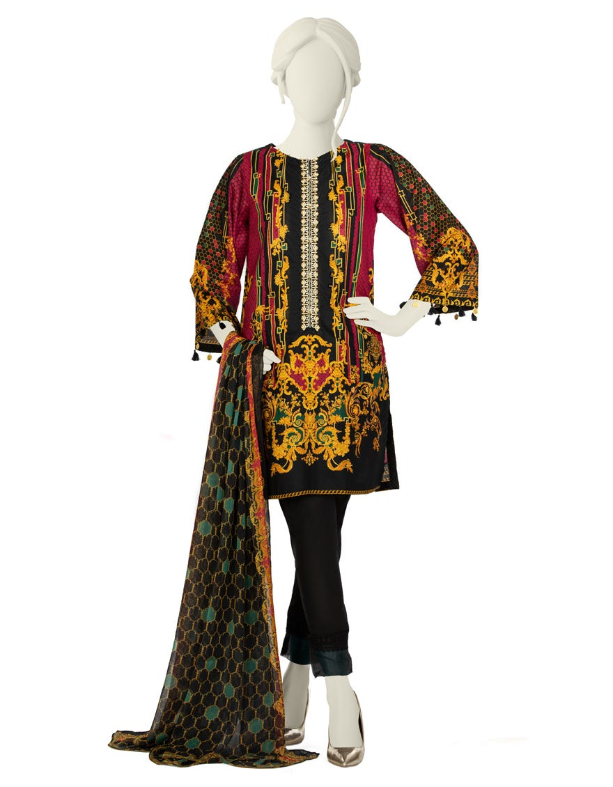 Junaid Jamshed JLAWN-S-21-732 S Baroque Eid Collection