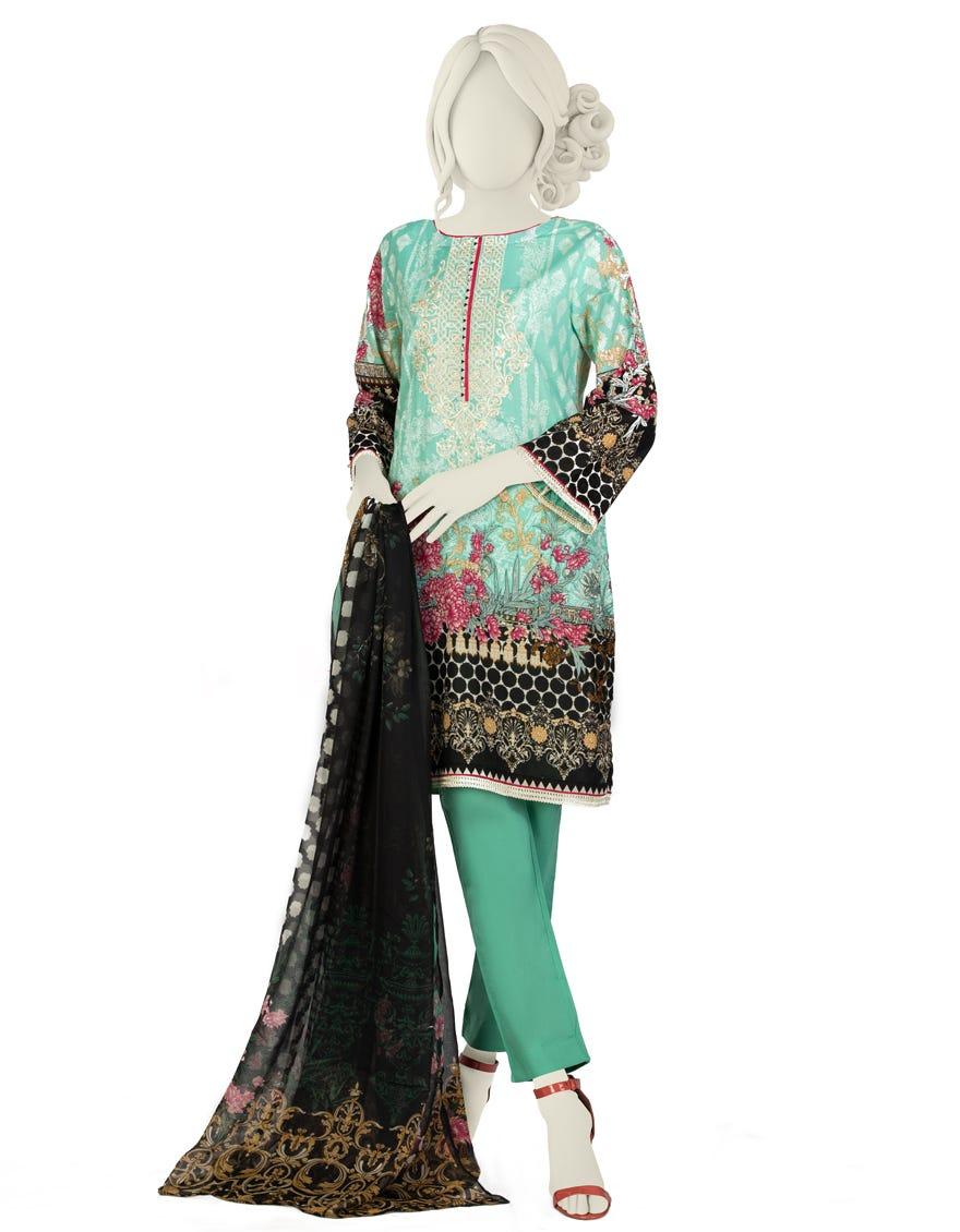 Junaid Jamshed JLAWN-S-21-733 Pastel Haze Eid Collection