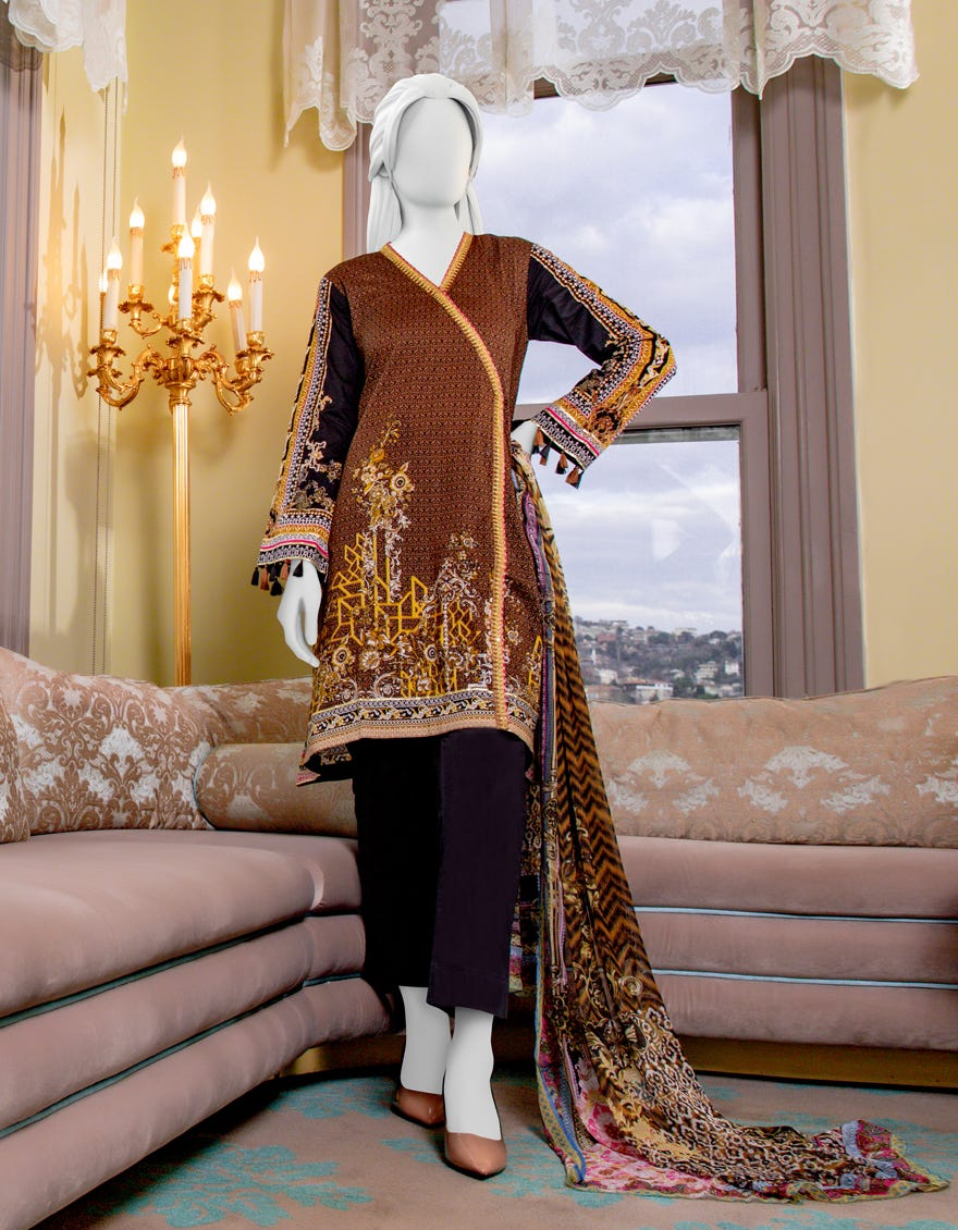 Junaid Jamshed JLAWN-S-21-734 Stitch Eid Collection