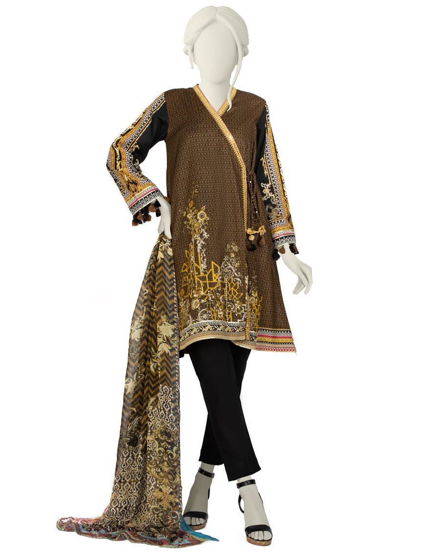 Junaid Jamshed JLAWN-S-21-734 S Stitch Eid Collection