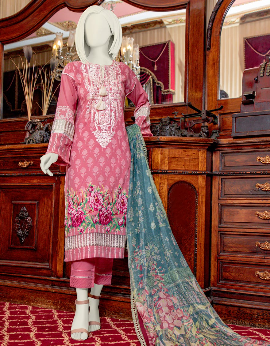 Junaid Jamshed JLAWN-S-21-752 Maybelle Eid Collection