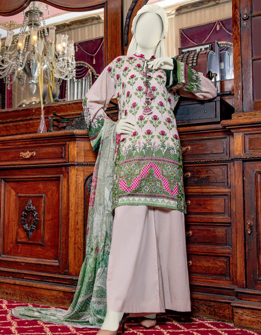 Junaid Jamshed JLAWN-S-21-753 Scarlet Eid Collection
