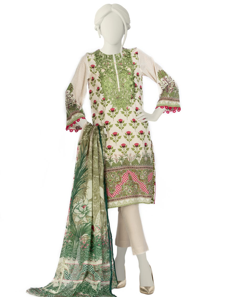 Junaid Jamshed JLAWN-S-21-753 S Scarlet Eid Collection