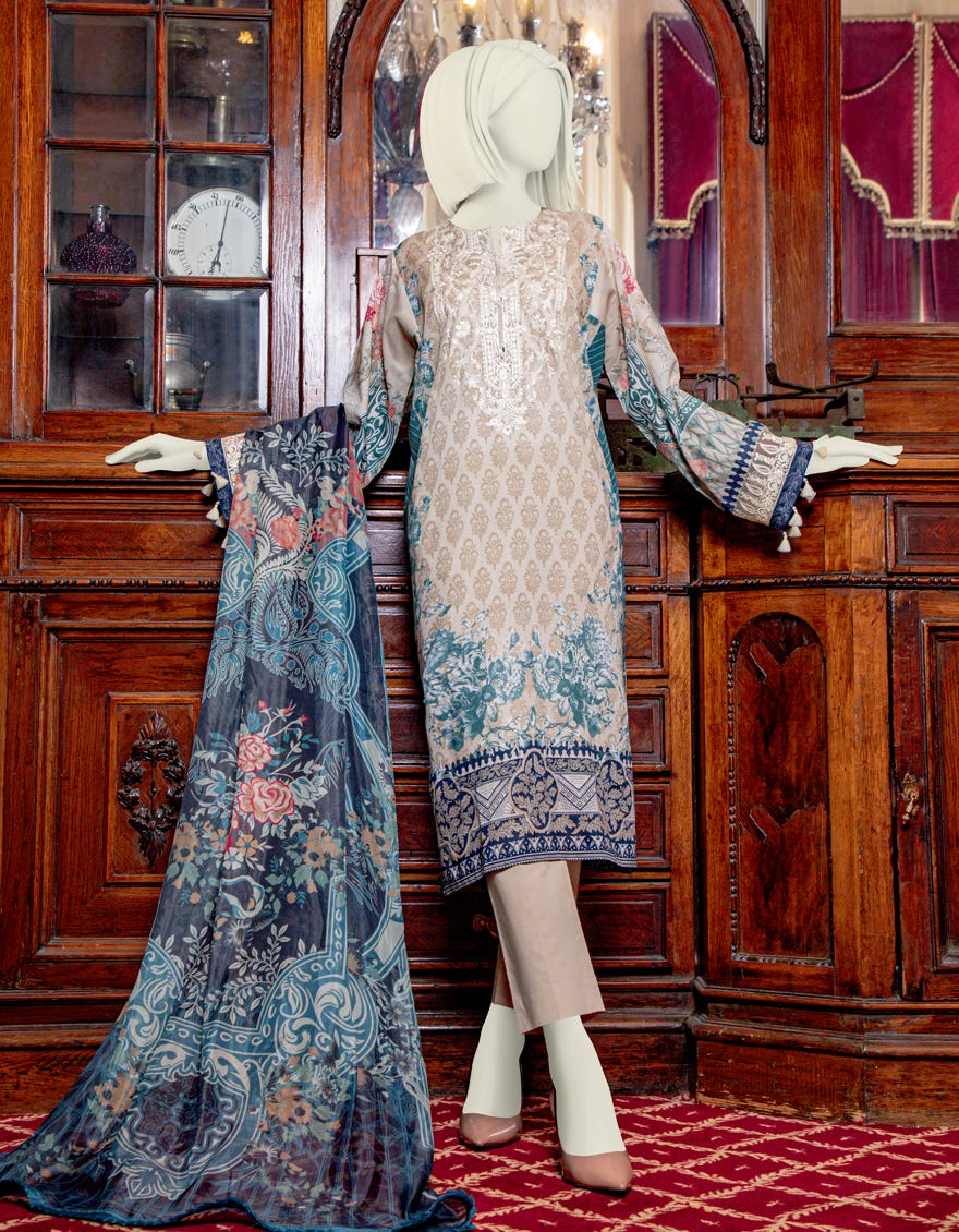 Junaid Jamshed JLAWN-S-21-754 Pearl Rose Eid Collection