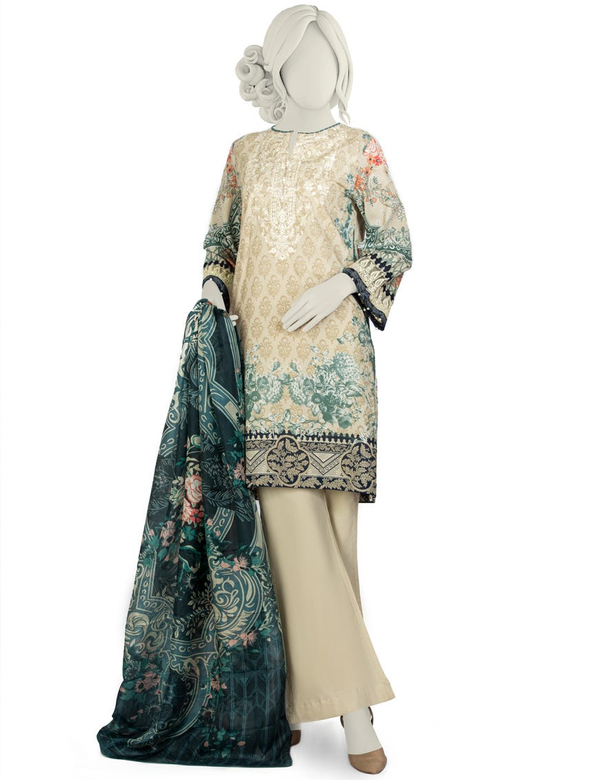 Junaid Jamshed JLAWN-S-21-754 S Pearl Rose Eid Collection