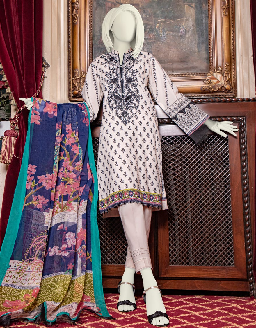 Junaid Jamshed JLAWN-S-21-761 B Haven Eid Collection