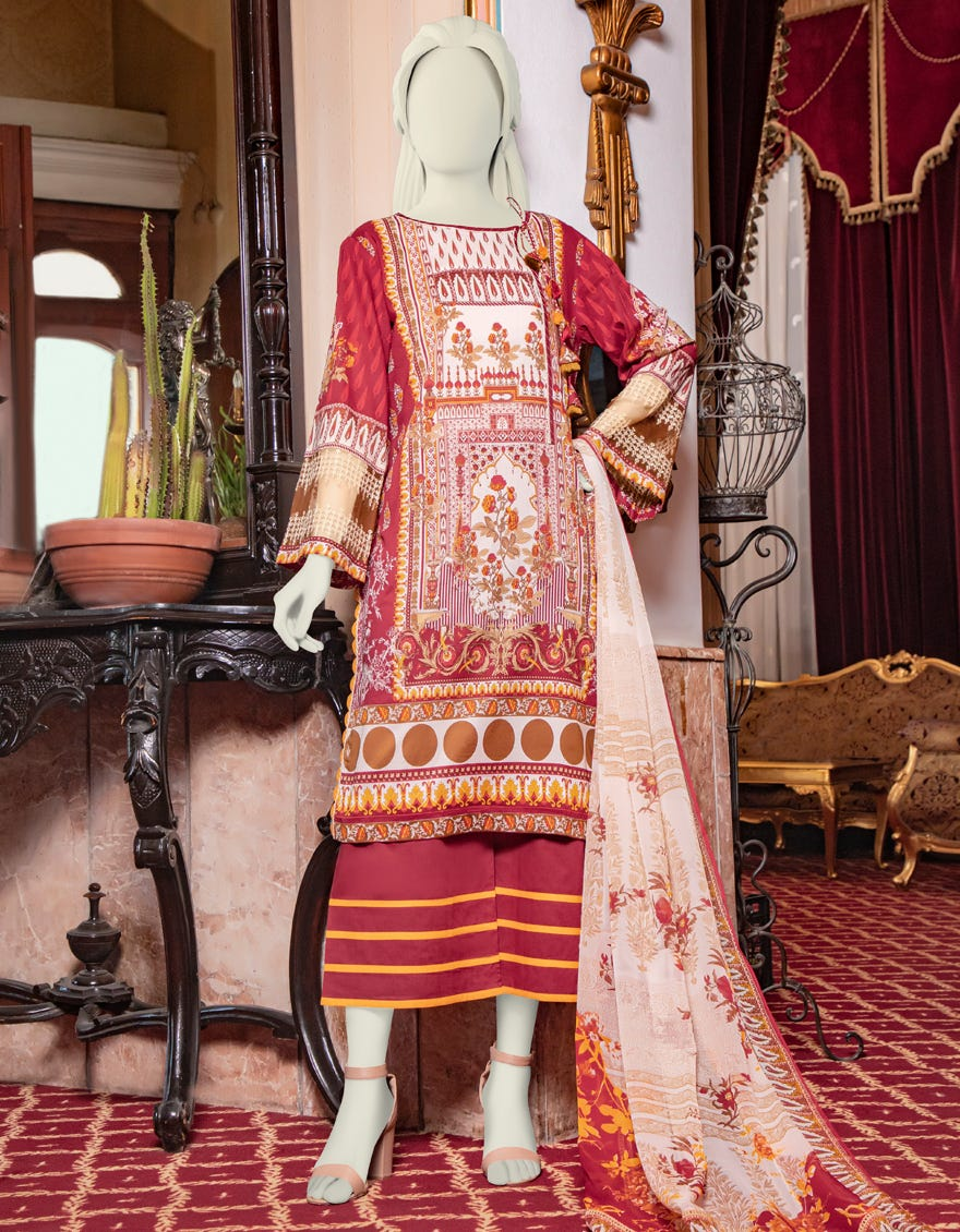 Junaid Jamshed JLAWN-S-21-762 B Elara Eid Collection