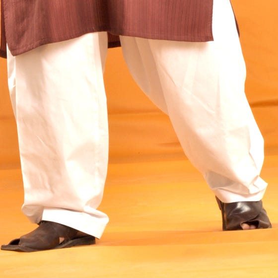 Off-White Cotton Silk - Men Shalwar (JJS-102)