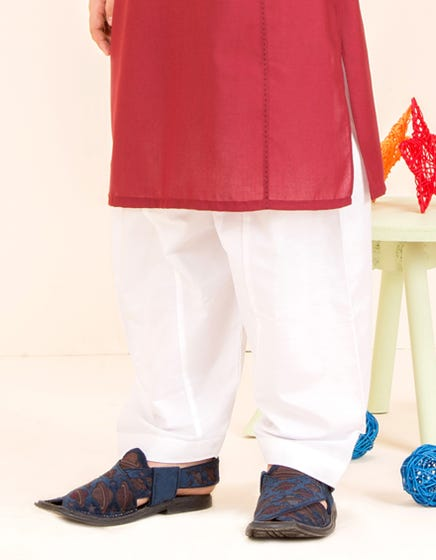 White Cotton - Kids Shalwar (JCS-103)
