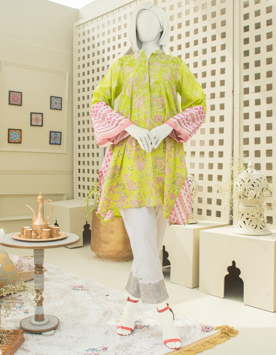 Junaid Jamshed JJLK-S-JSS-21-346 FB Olive Eid Collection