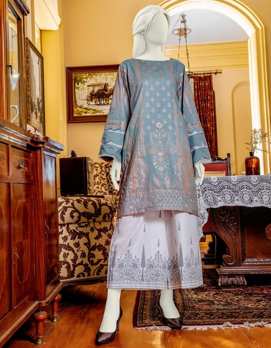 Junaid Jamshed JLAWN-S-JST-21-1622 Rose Quartz Eid Collection