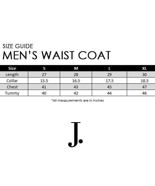 Waist Coat Size Chart
